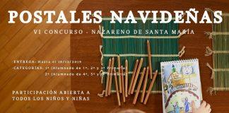 Cartel del concurso de postales navideñas de la cofradía del Nazareno.