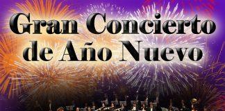 Cartel del concierto de Año Nuevo que ofrece la Orquesta Sinfónica Ciudad de La Línea.