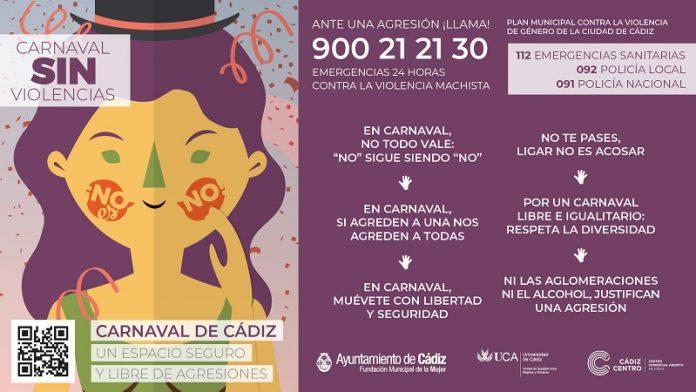 Cádiz pone en marcha la campaña 'No es No' durante el Carnaval