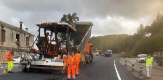 Reactivadas obras de refuerzo de firme en tramos de la carretera A-384
