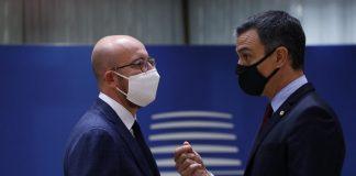 El presidente Sánchez, durante la cumbre europea. / Foto: Dario Pignatelli/European Counci / DPA