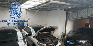 La policía desmantela vehículos de transporte de fardos de hachís