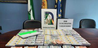 Incautados 16.583 boletos de lotería ilegal de la OID y 1.028 euros en metálico en Chiclana