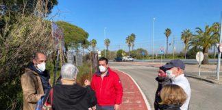 Refuerzan la seguridad vial de la entrada a El Puerto por Valdelagrana