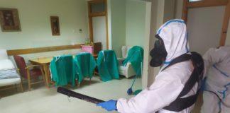 La Armada realiza la desinfección integral de la residencia de Alzheimer en San Fernando