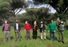 Plantación simbólica de especies autóctonas gaditanas con motivo del 28F