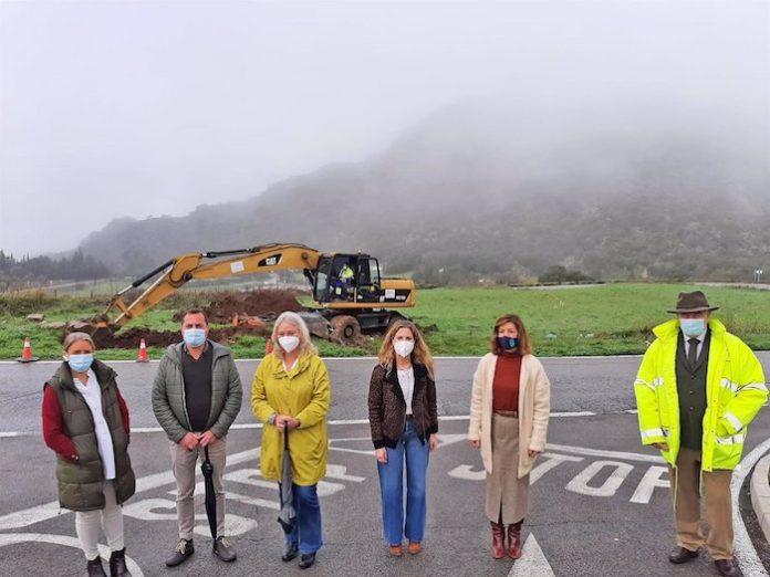 Inician obras en la A-2302 en la Sierra de Cádiz para mejorar la seguridad vial
