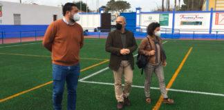 Visita de al campo de futbol de Guadalcacín.