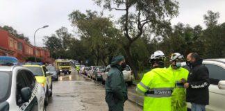 Evacuadas unas 30 personas atrapadas tras las lluvias en Los Barrios