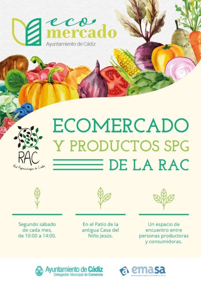 El Ecomercado vuelve este sábado a Cádiz con todas las medidas de protección contra la COVID-19