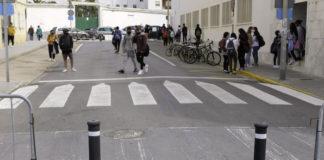 Peatonalizan el tramo de Marianista Cubillo donde se ubica el IES Drago