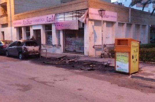 Investigan la quema continuada de contenedores en El Puerto de Santa María